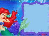 Little Mermaid Birthday Invitations Free Printables Little Mermaid Free Printable Invitation Templates
