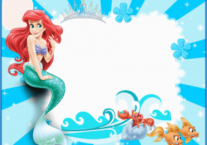 Little Mermaid Birthday Invitations Free Printables the Little Mermaid Free Printable Invitations Cards or