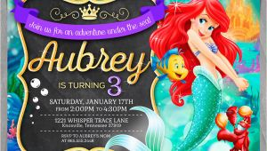 Little Mermaid Birthday Invites Little Mermaid Invitation Disney Ariel Invite Little