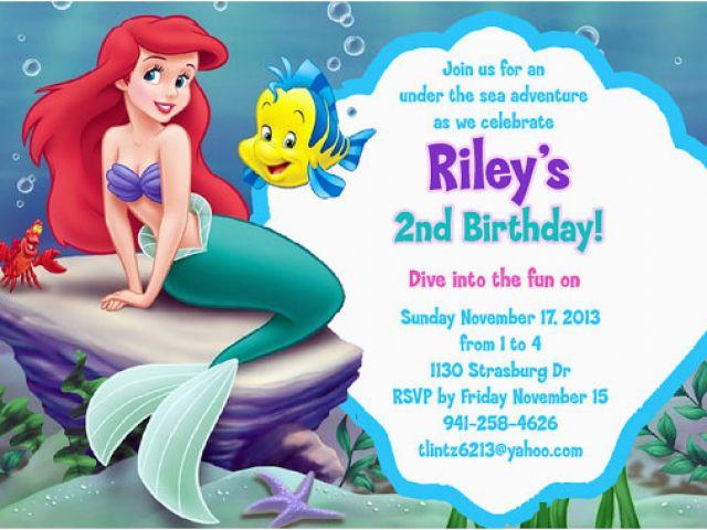 Download By SizeHandphone Tablet Desktop Original Size Back To Little Mermaid Birthday Invites