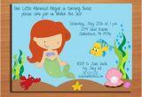 Little Mermaid Printable Birthday Card Ariel Little Mermaid Princess Birthday Party Invitation