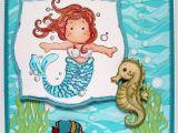 Little Mermaid Printable Birthday Card Ballerina Craft Mermaid Birthday Card