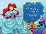 Little Mermaid Printable Birthday Card Disney Little Mermaid Birthday Invitation Card by