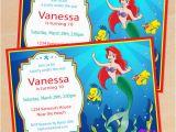 Little Mermaid Printable Birthday Card Free Printable Disney Little Mermaid Birthday Invitation