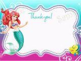 Little Mermaid Printable Birthday Card Little Mermaid Birthday Cards Ariel Birthday Cards Card
