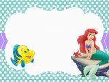 Little Mermaid Printable Birthday Card Little Mermaid Free Printable Invitation Templates