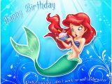 Little Mermaid Printable Birthday Card Mermaid Birthday Quotes Quotesgram