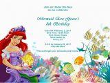 Little Mermaid Printable Birthday Card the Little Mermaid Birthday Invitations Free Printable