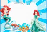 Little Mermaid Printable Birthday Card the Little Mermaid Free Printable Invitations Cards or