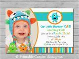 Little Monster 1st Birthday Invitations 7 Best Images Of 1st Birthday Monster Printables Little