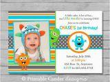 Little Monster 1st Birthday Invitations Little Monster 1st Birthday Invitation Diy by Printablecandee