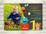 Little Monster 1st Birthday Invitations Little Monster 1st Birthday Party Invitation Monster