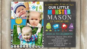 Little Monster 1st Birthday Invitations Little Monster First Birthday Invitation Boys 1st Bday