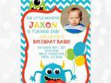 Little Monster 1st Birthday Invitations Monster Birthday Invitation Little Monster 1st Birthday