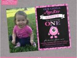 Little Monster 1st Birthday Invitations Monster Birthday Invitation Little Monster by Zoeybluedesigns
