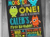 Little Monster 1st Birthday Invitations Monster Birthday Invitation Little Monster Invitation Monster
