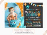 Little Monster 1st Birthday Invitations Monster Birthday Invitation Monster Party Invitation Little