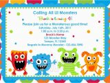 Little Monster 1st Birthday Invitations Monster Birthday Invitations Ideas Bagvania Free