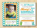 Little Monster 1st Birthday Invitations Unavailable Listing On Etsy