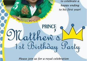 Little Prince 1st Birthday Invitations Items Similar to Little Prince Custom Digital Photo