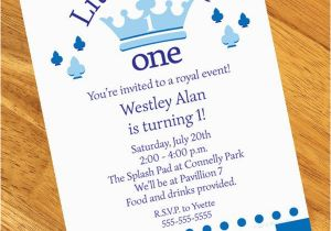 Little Prince 1st Birthday Invitations Little Prince 1st Birthday Personalized Invitations