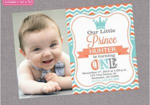 Little Prince 1st Birthday Invitations Little Prince Birthday Invitation Boy 1st First Birthday