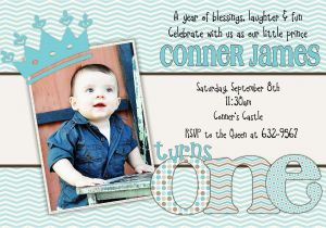 Little Prince 1st Birthday Invitations Little Prince Birthday One First 1st Birthday Invitation