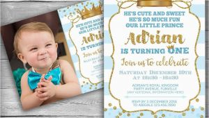 Little Prince 1st Birthday Invitations Prince Invitation Little Prince First Birthday Boy
