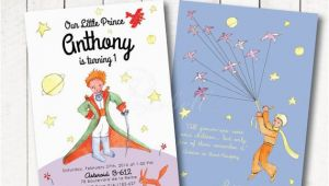 Little Prince Birthday Invitations the Little Prince Invitation for the Little Prince Birthday