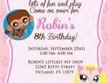 Littlest Pet Shop Birthday Invitations Printable Free 20 Birthday Invitations Cards Sample Wording Printable