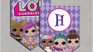 Lol Doll Happy Birthday Banner Lol Surprise Dolls Inspired Banner Printable Birthday Diy