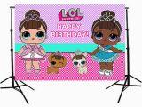 Lol Surprise Happy Birthday Banner Lol Surprise Doll Birthday Custom Photo Studio Backdrops
