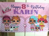 Lol Surprise Happy Birthday Banner Personalised Pvc Banner for Birthday Party Decoration
