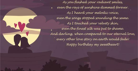 Love Poems for Birthday Girlfriend Romantic Happy Birthday Poems for Her for Girlfriend or