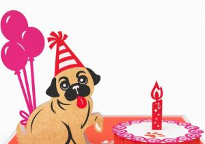 Lovepop Birthday Cards Pug Cake Smash Pop Up Card
