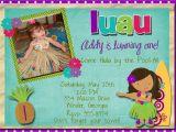 Luau 1st Birthday Invitations 20 Luau Birthday Invitations Designs Birthday Party