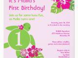 Luau 1st Birthday Invitations Aloha Honu First Birthday Luau Invitation Zazzle