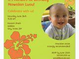 Luau 1st Birthday Invitations Hawaiian Luau First Birthday Photo Invitation Zazzle