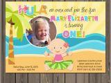 Luau 1st Birthday Invitations Luau 1st Birthday Invitation Hawaiian Luau 1st Birthday