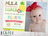 Luau 1st Birthday Invitations Luau Birthday Party Invitation Pineapple by Littlebirdieprints