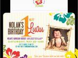 Luau 1st Birthday Invitations Nealon Design Luau Birthday Invitation