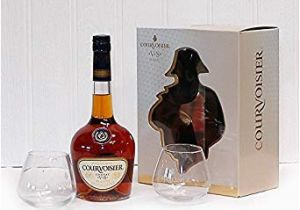 Luxury 21st Birthday Gifts for Him Courvoisier Vs Cognac Gift Pack with Glasses 700ml Gift
