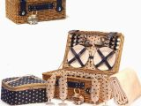 Luxury 21st Birthday Gifts for Him Lonsdale Picnic Basket Cream Fleece Blanket with Star