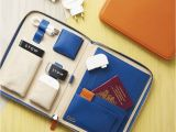 Luxury Birthday Gifts for Him Personalised Luxury Leather Travel Tech Case for Him