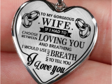 Luxury Birthday Gifts for Husband to My Gorgeous Wife I Love You Luxury Silver Necklace