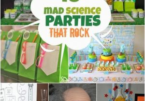 Mad Science Birthday Party Decorations A Boy 39 S Laboratory Science Birthday Party Spaceships and