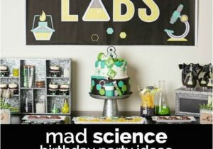 Mad Science Birthday Party Decorations A Boy S Laboratory Science Birthday Party Spaceships and