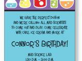 Mad Scientist Birthday Invitations Free Printable Mad Scientist Birthday Party Invitations