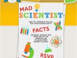 Mad Scientist Birthday Invitations Mad Scientist Birthday Party Printable Invitations