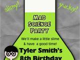 Mad Scientist Birthday Invitations Mad Scientist Party Invitation